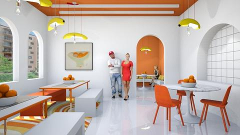 Orange pie - Dining room  - by chania
