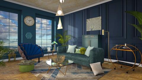 Art Deco Living - Living room  - by ginamelia22