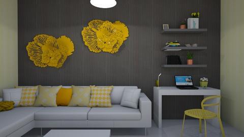 sala amarilla - Living room  - by clasesytutorias