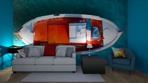 Boat snug - Living room  - by Riordan Simpson