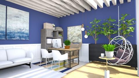 blue home office - Office  - by nihalruttala
