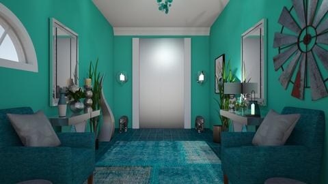 Turquoise  Metal Hall - Glamour - by Irishrose58