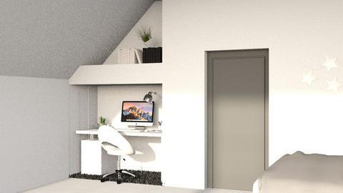 Slanted Work Area - Minimal - Bedroom  - by kitacat