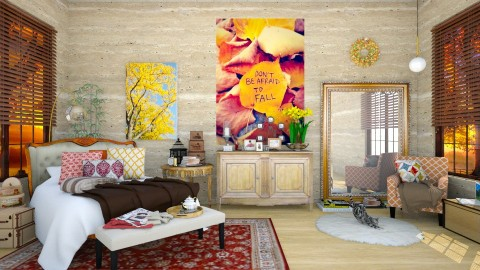 Fall Autumn Inspired Bedroom - Classic - Bedroom  - by creativediva