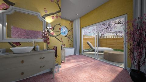 Cherry Blossom Bathroom - Bathroom  - by Claudia Correia