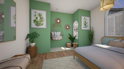 Sage Bedroom  - Bedroom  - by KittyPrincess77
