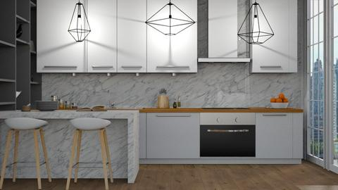 eat - Modern - Kitchen  - by NEVERQUITDESIGNIT