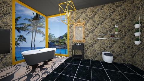 Gold And Black Bathroom - Bathroom  - by Chrispow0105