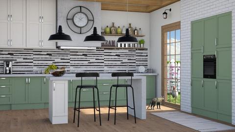 Modern farmhouse - Kitchen  - by Lizzy0715