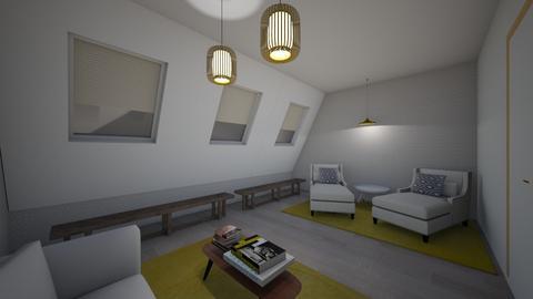 Sala buhardilla - Living room - by Rebecaib
