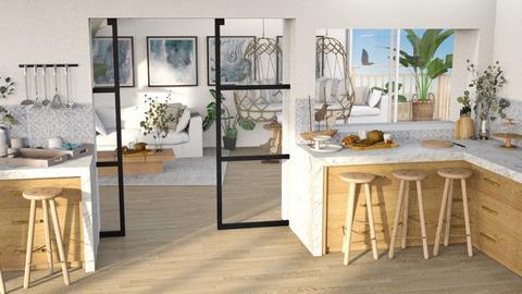 Ocean Inspired - Living room  - by etibennaim