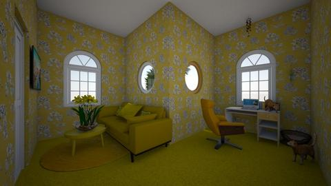 yellow room - Office  - by dunlopgirl