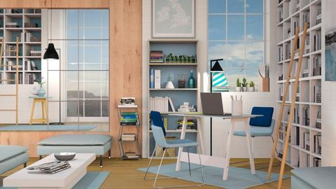 Blue Lawyers Office - Modern - Office  - by Sally Simpson
