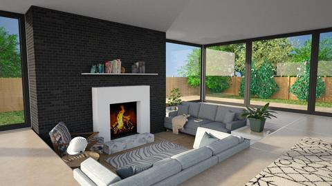 sunken seating area - Living room  - by abzzicles