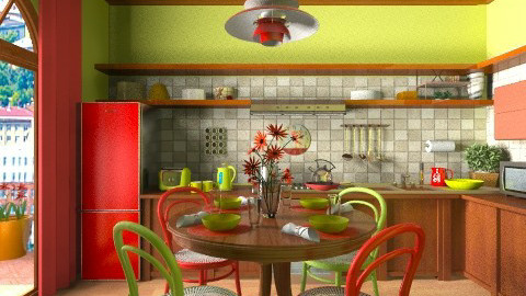 Bright Cooking - Kitchen  - by Violetta V