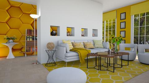 Beehive inspired living  - Living room  - by Nina Colin