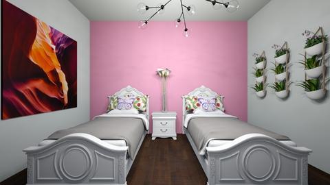 Pink Guest Room - Bedroom  - by BookWorm23
