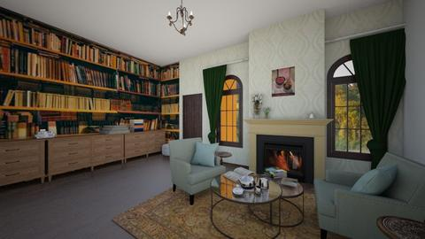 Library  - Classic - Living room  - by MiDesign