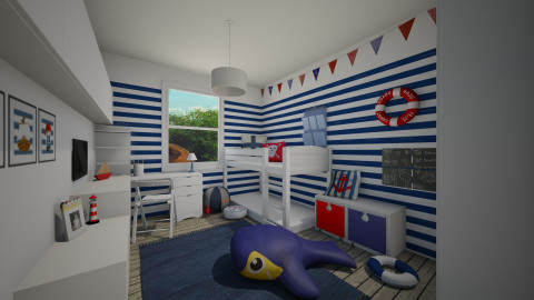 boys bedroom for jessica - Kids room  - by miadesign