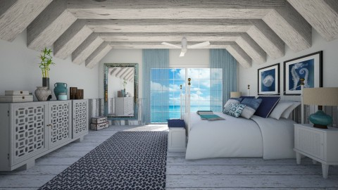 beach house bedroom - Bedroom  - by ANAAPRIL