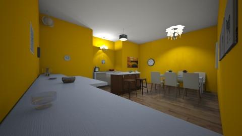 yellow kitchen - Kitchen  - by Nleisen