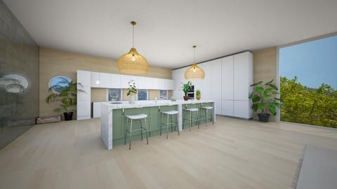 modern minimal kitchen - Modern - Kitchen  - by malia_s