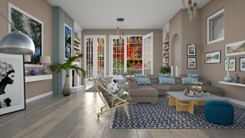 London Apartment - Modern - Living room  - by janip