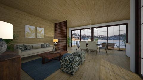 boathouse living - Living room - by ejwinteriors