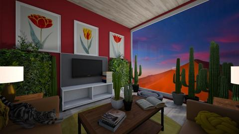 Red Cactus - Living room  - by CShuman715