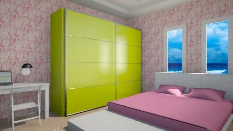 pinky - Retro - Bedroom  - by Rafika Vestalozi