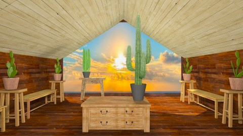 Bahay Kubo Living - Rustic - Living room  - by unglued