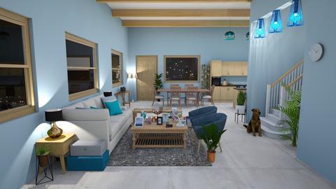 blue - Rustic - Living room  - by kellynazha