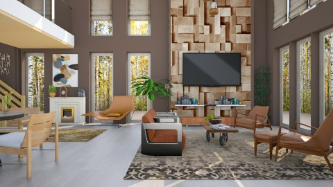 M_Autumn forest  - Eclectic - Living room  - by milyca8