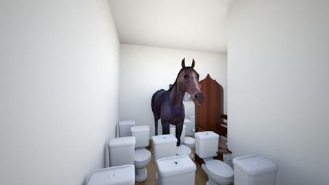 me luv horsey - Bathroom  - by Big man Flamingo