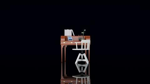 Desk and chair - Minimal - Office  - by HenkRetro1960