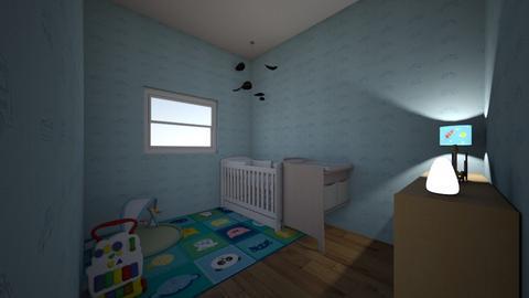 babykamer jongen meisje - Kids room  - by Mirthe van Rooijen