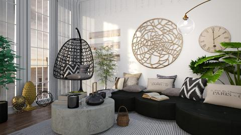 OVAL WORLD - Living room  - by Galstyler