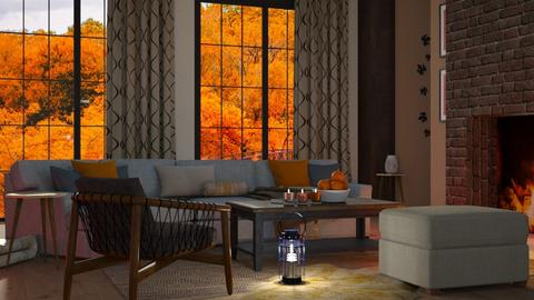 Cozy Autumn - Rustic - Living room - by millerfam