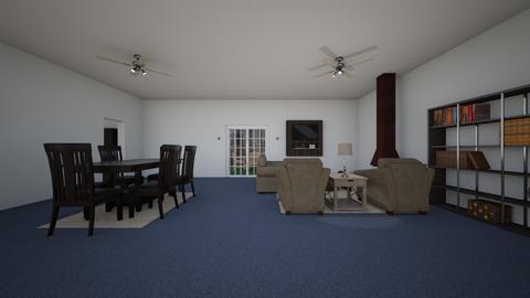 Underground Living Room 1 - Living room  - by WestVirginiaRebel