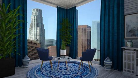 Blue Escape - Modern - Living room  - by Irishrose58