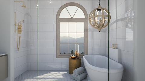 Hamptons Beach Bathroom - Minimal - Bathroom  - by MESAKE