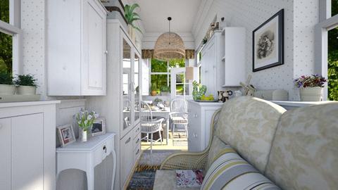 Narrow pantry - Rustic - Dining room  - by Leyvna