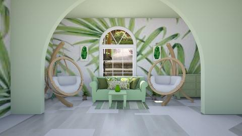 Tropical living Room YT - Minimal - Living room  - by Agamanta
