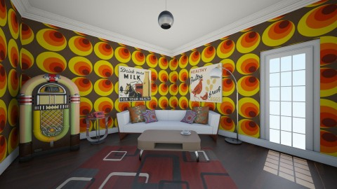 Retro 70s living room - Retro - Living room  - by sarahbatty