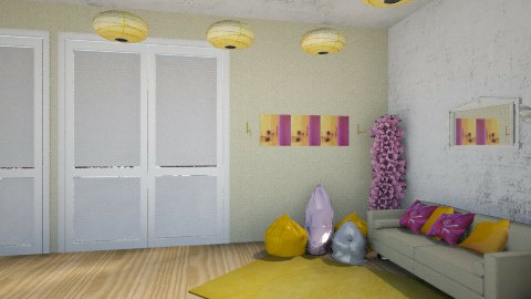 y& pink - Living room - by saraftayeh