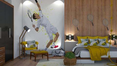 Nole fan - Bedroom  - by snjeskasmjeska