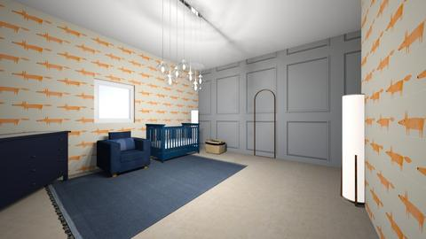 Dark blue baby room  - Kids room  - by Thamara Cummer