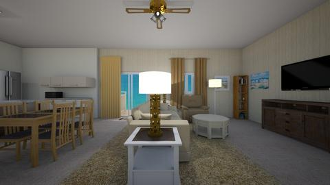 Beach Cottage - Living room  - by mspence03