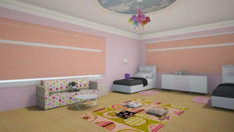 girl pink bedroom - Glamour - Bedroom - by Karine Hakobayan