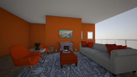 orange and white apertmen - Classic - Living room  - by palesa_khibab